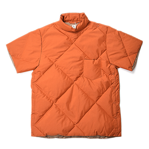 "KAPTAIN SUNSHINE Mockneck Down-Tee ""Walnut"""