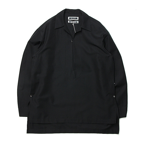 "KIIT Cotton Silk Pullover Open Collar Shirts ""Black"""