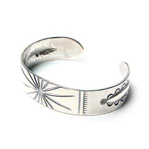 North Works Stamped 900 Silver Cuff Bracelet (W-002)
