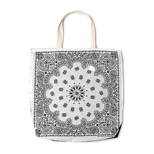 "Infielder Design B-28 Bandana Bag ""Black x White"""