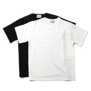 "Blev Route 2 Pack T-Shirts ""With H"" - (Black,White) 1set"