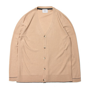 "Blev Route Coli Whole Garment Cardigan ""Beige"""