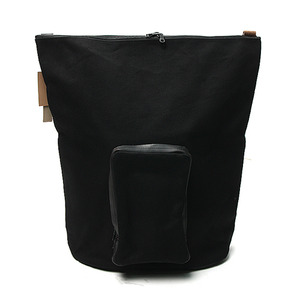 "AMIACALVA Horween X Cotton Canvas Shoulder Bag ""Black"""