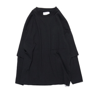 "GAKURO Layered Sleeve T-Shirts ""Black"""