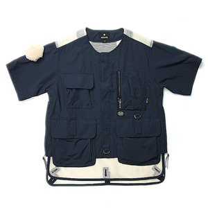 "Snow Peak Utility Fishing Pullover ""Navy"""
