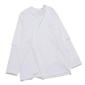 "GAKURO Layered Sleeve T-Shirts ""White"""