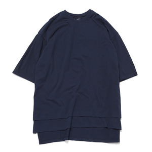 "GAKURO Layered Oversized T-Shirt ""Navy"""
