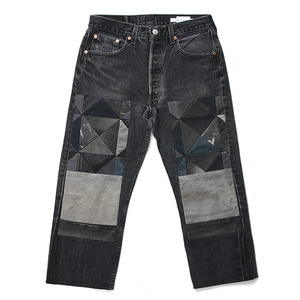 "CHILDREN OF THE DISCORDANCE by NAOTO YOSHIDA Old Patch Levi's Denim Pants ""Black"""