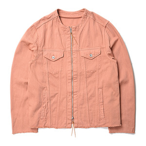 "BUKHT N/C Loose Denim Zip BZ 12oz Loose Denim ""Flamingo"""