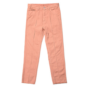"BUKHT Pin Tuck Loose Denim 12oz Loose Denim Pants ""Flamingo"""