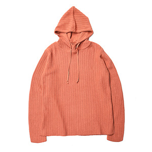"BUKHT Hooded RIB Knit Extra Long Staple Cotton ""Flamingo"""