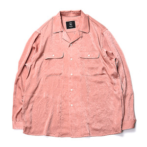 "BUKHT Open Collar Shirts ""Pink"""