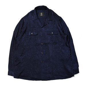 "BUKHT Open Collar Shirts ""Navy"""