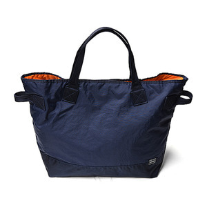 "KAPTAIN SUNSHINE x PORTER Quilting Military Nylon Tote Large Bag ""Navy"""