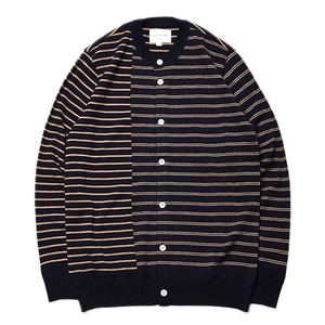 "Still by Hand Crew Neck Knit Cardigan ""Navy"""