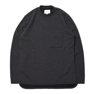 "Still by Hand Mock Neck T-Shirt ""Charcoal"""