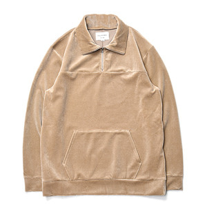 "Still by Hand Half Zip Jersey ""Beige"""