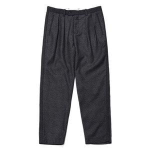 "Still by Hand Multi Fabric Wool Pants ""Grey"""