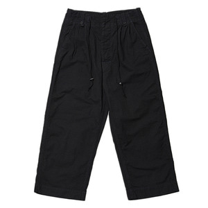 "BUKHT Pin Tuck Army Trousers ""Black"""