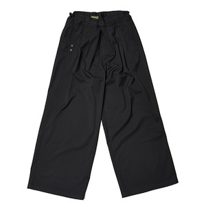 "Qlad Museum Pulpy Cotton Wide Pants ""Black"""