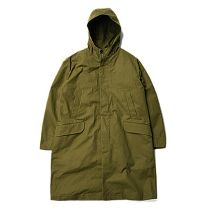 "Still by Hand Lined Hooded Coat ""Olive"""