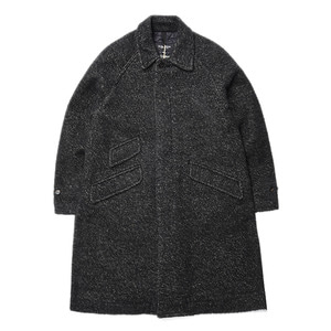 "East Logue Balmacaan Coat ""Black Towel"""