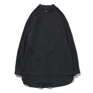 "GAKURO Double Layered Tunic Shirt ""Black"""