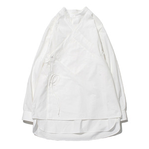 "GAKURO Double Layered Tunic Shirt ""White"""