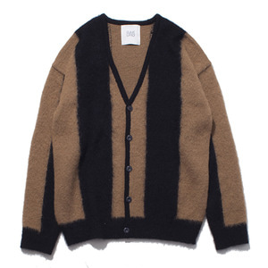 "[RE STOCK]GAKURO Mohair Cardigan ""Black&Camel"""