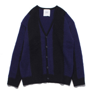 "[RE STOCK]GAKURO Mohair Cardigan ""Black&Purple"""