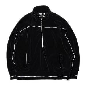 "KIIT C/E Heavy Velour Half Zip Jersey Tops ""Black"""
