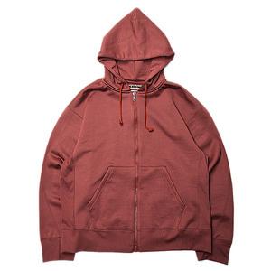 "KIIT N/C Pile Zip Up Hoodie Tops ""Bricred"""