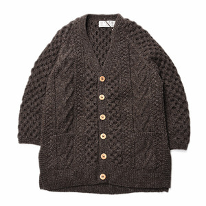 "ATHENA DESIGNS V-Neck Short Sleeve Cardigan ""LT. Brown"""
