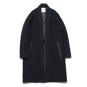 "GAKURO Oriental Wool Coat ""Black"""