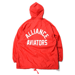 "VOTE Aviators Big Hooded Coach Jacket ""Red"""