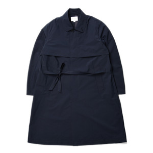 "Still by Hand Bal Collar Coat ""Navy"""