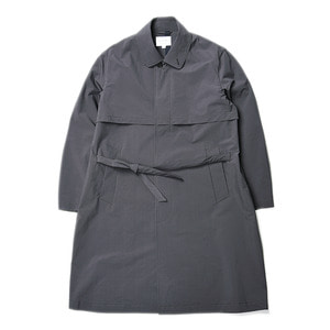 "Still by Hand Bal Collar Coat ""Charcoal"""