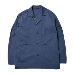 "Still by Hand Melange Face Shirts Jacket ""Blue"""