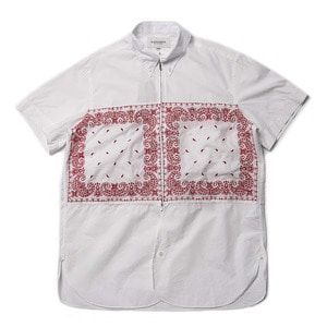 "East Logue Regular B.D Half Zip Shirt ""Red Needle Point"""