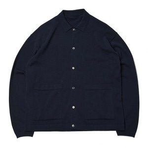 "CREPUSCULE Knit Shirts ""Navy"""