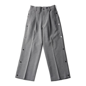 "KIIT P/PU W Cloth basket Pants ""Gray"""