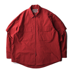 "KIIT Detachable Sleeve Zip Up Blouson ""Bric Red"""