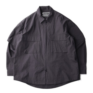 "KIIT Detachable Sleeve Zip Up Blouson ""Charcoal"""
