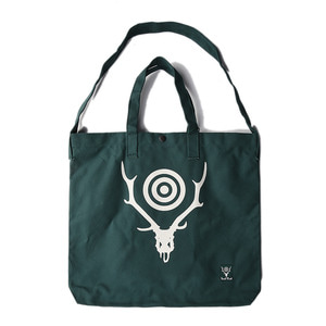 "SOUTH2 WEST8 Grocery Bag Skull&Target ""Green"""