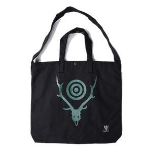 "SOUTH2 WEST8 Grocery Bag Skull&Target ""Black"""