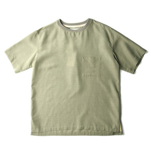 "Still by Hand Wide Over Fit Crew Shirt ""Green"""