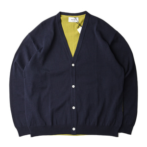 "UNITUS Color Block Cardigan ""Navy"""