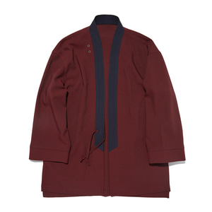 "Qlad Museum Relaxed Haori Jacket ""Burgundy"""