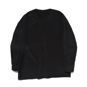 "Qlad Museum Round Pleated Shirt ""Black"""