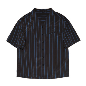 "Qlad Museum Triangle Half Shirt ""Blue Stripes"""
